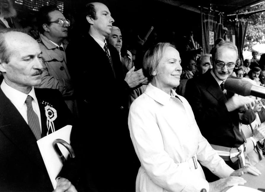 Commemorazione dell'Eccidio di Marzabotto 1984 - Nilde Iotti - Foto Gaggioli