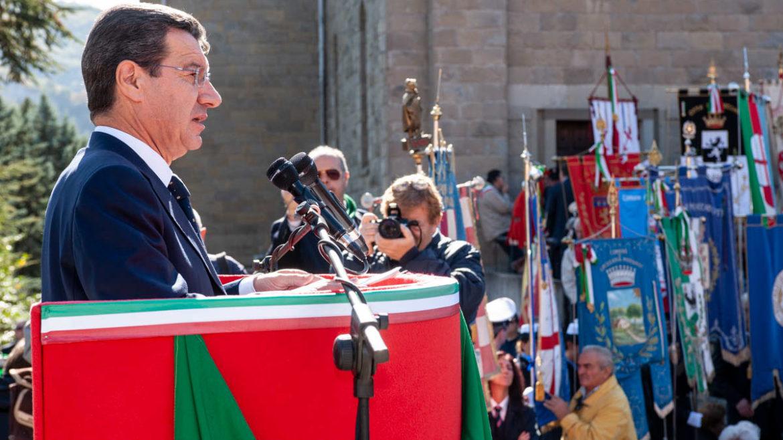 Commemorazione dell'Eccidio di Marzabotto 2008 - Il parlamentare Vannino Chiti