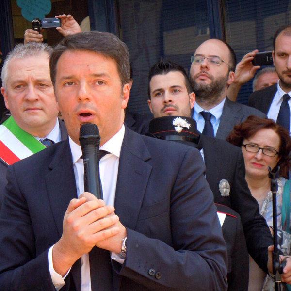 Matteo Renzi in visita a Marzabotto